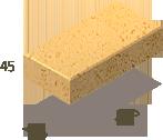 Клінкерна плитка 200х100х45 мм (жовта)